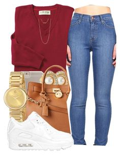 """"""" Hot Girl Hands off don't touch that """" by mindlesspolyvore ❤ liked on Polyvore featuring Case-Mate, Susan Caplan Vintage, Michael Kors, Movado, NIKE and Forever 21"""