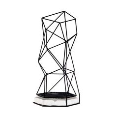 Geometric Umbrella Stand White, £69, now featured on Fab.