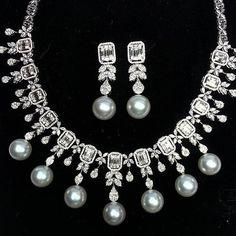 ♡GlamBarbiE♡ BLACK PEARLS & DIAMONDS