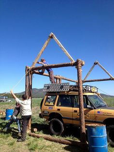 Camel Trophy skills area under construction. by OverlandExpo, via Flickr
