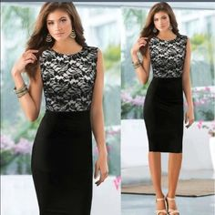 Beautiful Lace Shift Dress Make sure to check the sizing chart as items from this company often run small. Dresses
