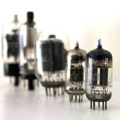 Vintage Vacuum Tubes for radio amplifiers and by opendoorstudio, $14.00