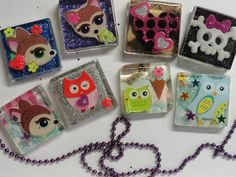 Made To Order-SEE PICS-Kawaii Style NECKLACES or KEYCHAINS-PARTY FAVORS, FUN for ALL! Contact me before ordering to discuss your theme! Party favors - loved ones - baby showers - lost loved ones or pets - wedding shower or any occasion!