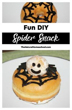 We read fiction and nonfiction books and then, I come up with a cool activity. In this case, we made a fun DIY Spider snack for preschool kids and older ones, too!