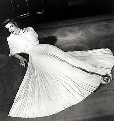 The timeless Katharine Hepburn in a stunning pleated gown I would wear today. #CelebrateSparkle