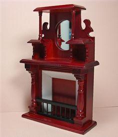 Dollhouse Miniature Victorian Fireplace