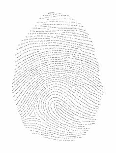 A finger print composed of one verse from every book of the Bible