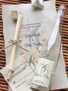Message in a bottle invitations. Love this!  #amirweddingfest13