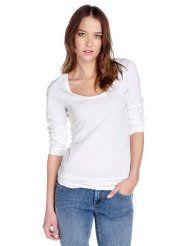 edc by ESPRIT Damen Langarmshirt Regular Fit, 032CC1K026