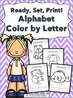 Color by Letter - Alphabet These activities are great for pre-k, kindergarten, and first grade students learning their uppercase and lowercase letters. Alphabet Worksheets, Alphabet Activities, Preschool Activities, Alphabet Practice Sheets, Letter Blends, Handwriting Activities, Letter Identification, Picture Letters, Uppercase And Lowercase Letters