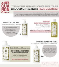 Choosing the right face cleanser. #eminence #organicskincare