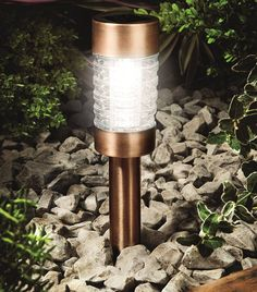 A contemporary garden marker light in a stylish copper finish.This marker light is ideal for lining a pathway, patio or garden border. The light its self has a contemporary design with a bright LED. Powered by a solar panel, this stylish outdoor lighting solution creates a fantastic lighting feature. As there is no mains wiring to worry about, these lights are portable and can easily be moved to provide lighting for events such as parties and weddings. The integral batteries are recharged by…