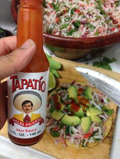 Add some tapatío and little salt.,. Enjoy .,.