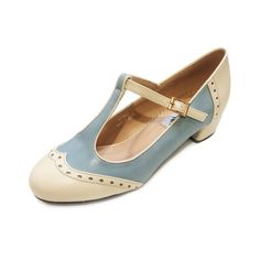 Collectif Lulu Hun 40s Dance Lindy Jive Baby Blue Shoes