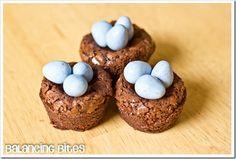 Mini Easter Brownies