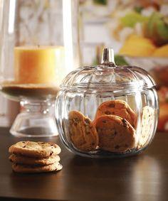 Pumpkin Candy Cookie Jar #zulily #zulilyfinds