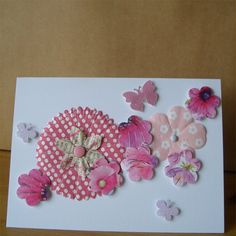 Pink Lady Butterfly Card £2.50 by Aunty Joan Crafts