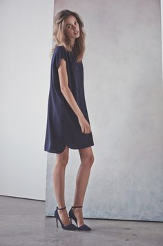 A popover dress and heels. Sometimes that's all you need.