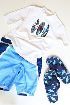 Swimsuits for boys & Things To Pack In Your Pool Bag | @kimbyers TheCelebrationShoppe.com