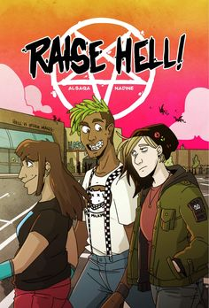 """Raise Hell! mixes teen comedy with a bit of satanism in a super fun way."" James reviews Raise Hell! #1. Comic Book Covers, Comic Books, Comics, Art, Art Background, Kunst, Cartoons, Cartoons, Performing Arts"