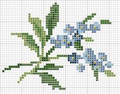 вышивка крестом схемы цветы маленькие - Поиск в Google