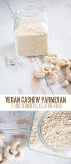 Vegan Parmesan (3 ingredients only!) | Elephantastic Vegan