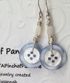 Button Earrings on Pinterest | Button Necklace, Button Bracelet ...