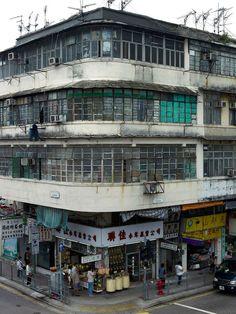 Corner houses, Hong Kong by Michael Wolf City Lights Apartments, Hong Kong Building, Kowloon Hong Kong, Hong Kong Architecture, Kowloon Walled City, Michael Wolf, Wolf Photography, China Hong Kong, Corner House