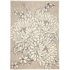 Romantic Floral Rug ($145) ❤ liked on Polyvore featuring home and rugs