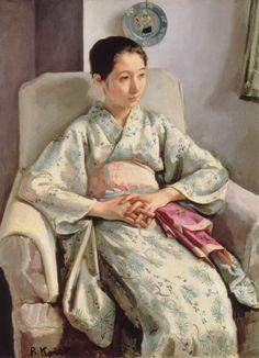 KOISO Ryohei, Japan 小磯良平「T嬢の像」