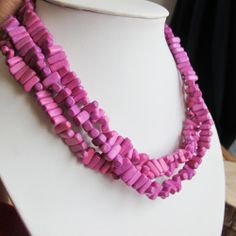 Magenta wood beads, 2 strands, width rectangular , 2012 New fashion wood jewelry beads via Etsy Crochet Necklace, Beaded Necklace, Beaded Jewelry, Unique Jewelry, Strands, Magenta, New Fashion, Beads, Trending Outfits
