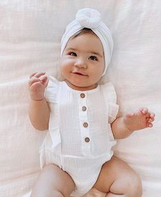 beautiful gauze romper with matching self-tie headband Material:Cotton gauze Gender:Baby Girls Style:Modern-vintage Material Composition:cotton Fit:Fits true to size Department Name:Baby Tie Headband, Baby Girl Fashion, Baby Names, Rompers, Mom, Guys, Cotton, Video, Instagram