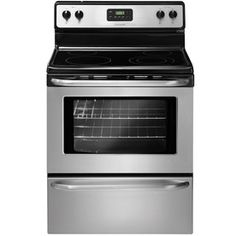 Frigidaire�30-in Smooth Surface Freestanding 4-Element 4.8 cu ft Electric Range (Stainless Steel)