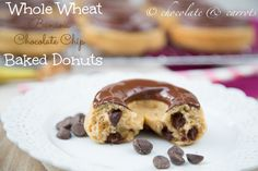 Whole Wheat Banana Chocolate Chip Baked Donuts