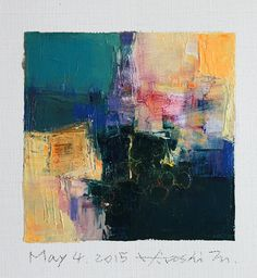 may042015 | Oil on canvas 9 cm x 9 cm © 2015 Hiroshi Matsumo… | Flickr