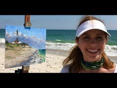 Plein Air Painting a Lighthouse & Beach with Jessica Henry - YouTube
