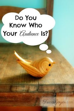 As a #writer, can you pinpoint who your #audience is?