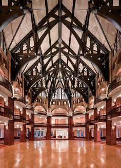The most amazing ballroom I've seen in a while.  National Park Seminary, Washington.  The restored condos look lovely, too.  A VERY interesting location, take a look at the rest of the photos
