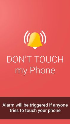 Alarm will be triggered! Tap to see more Don't Touch My Phone wallpapers, backgrounds, fondos. @mobile9