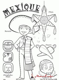 Countries Features and Cultures Coloring Pages - Preschool Activities . Colouring Pages, Adult Coloring Pages, Coloring Books, Around The World Theme, Kids Around The World, World Thinking Day, World Crafts, World Geography, Drawing For Kids