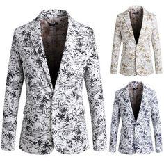 Casual Men Fashion Vacation Blazer Jacket | Sneak Outfitters Blazer Suit, Blazer Jacket, Blazers For Men, Pattern Fashion, Mens Suits, Gentleman, Men Casual, Mens Fashion, Men's Outerwear