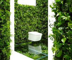 tokyo house vision expo, naruse inokuma architects, makoto azuma, sustainable architecture, natural bathroom, leafy bathroom design, green bathroom