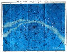 Astronomy - Map - Northern constellations from vintageprintables.com (more free printables)