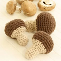 Champiñones a crochet
