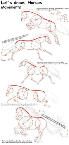 THIS IS SO HELPFUL! i could never draw horses before. Horse movements – Tutorial… That's so helpful! I've never been able to draw horses before. Horse Movements – Tutorial from TinyGlitch Drawing Lessons, Drawing Techniques, Drawing Tips, Drawing Reference, Painting & Drawing, Horse Drawing Tutorial, Drawing Ideas, Knife Painting, Drawing Hands