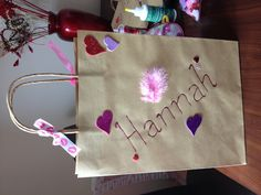 Personalised hen party bag.