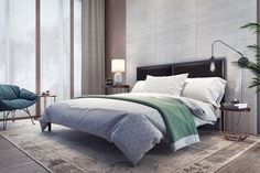 Modern design of bedroom interior Rendering - Buy this stock illustration and explore similar illustrations at Adobe Stock Modern Master Bedroom, Master Bedroom Design, Bedroom With Sitting Area, Interior Styling, Interior Design, Modern Rustic Decor, Beautiful Bedrooms, Elle Decor, Modern Design