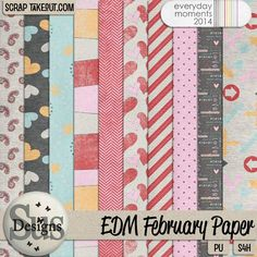 Everyday Moments February Papers #SusDesigns #DigiScrap