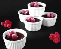Dark Valrhona Chocolate Pots De Crèmeadapted Dark Chocolate Recipes, Valrhona Chocolate, Death By Chocolate, Chocolate Pots, Chocolate Desserts, Just Desserts, Dessert Recipes, Panna Cotta, How Sweet Eats