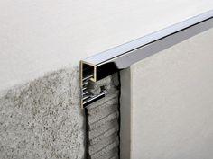 Chromed brass edge profile for walls PROJOLLY SQUARE   Chromed brass edge profile by PROGRESS PROFILES